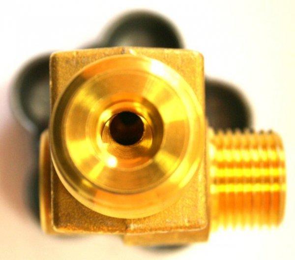 Zawór Argon 25E (duży czop) W21.8 230 bar z zaworkiem resztkowym bocznym PERGOLA najwyższa jakość