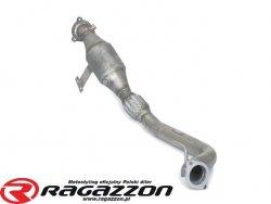 Downpipe kit + katalizator metaliczny + elastyczna rura wydechu RAGAZZON EVO LINE sportowy wydech