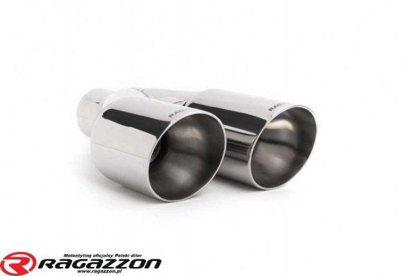Kompletny układ wydechowy + zawór RAGAZZON TOP LINE sportowy wydech