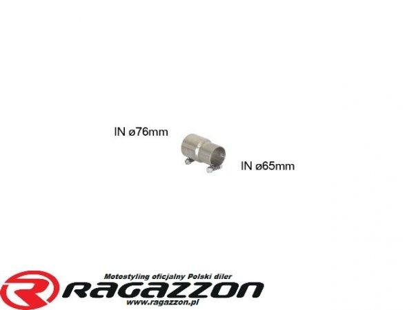 Adapter 76mm na 65,5mm RAGAZZON EVO LINE sportowy wydech