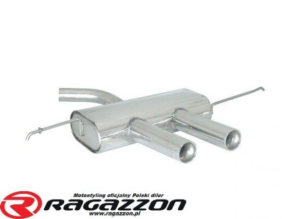 Tłumik końcowy środkowy RAGAZZON Volkswagen Golf V 2.0 Turbo FSI GTI sportowy wydech