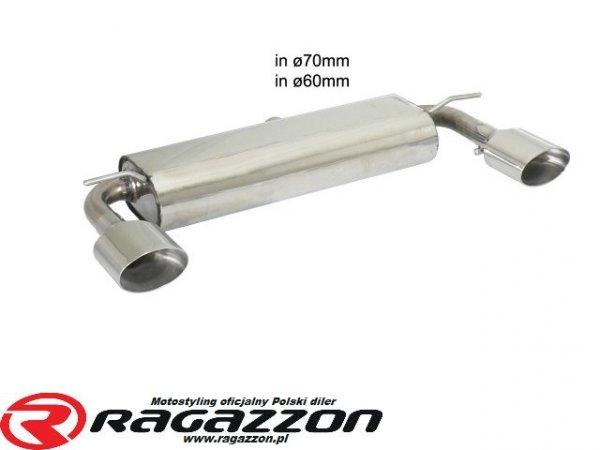 Tłumik końcowy podwójny RAGAZZON EVO LINE sportowy wydech