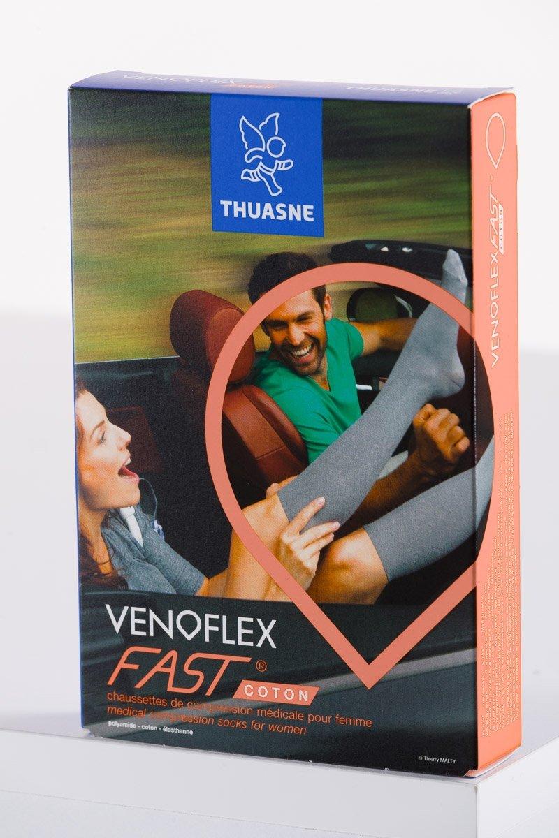 Venoflex Podkolanówki przeciwżylakowe I klasy ucisku (15-20 mmHg) FAST COTON z bawełną dla kobiet