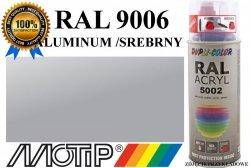 Lakier farba aluminum półmat 400 ml akrylowy acryl szybkoschnący RAL 9006