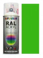MOTIP lakier zielono żółty farba połysk 400 ml akrylowy acryl szybkoschnący RAL 6018