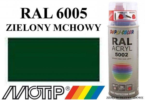Lakier przemysłowy farba zielony mchowy połysk acryl szybkoschnący RAL 6005