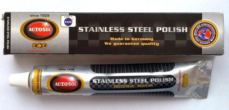 AUTOSOL stainless steel polish pasta polerowanie i renowacja stali nierdzewnej kwasówka 75ml