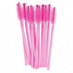 Szczoteczka do rzęs z różowym włosiem