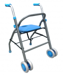 Podpórka inwalidzka składana z kółkami - AR-021