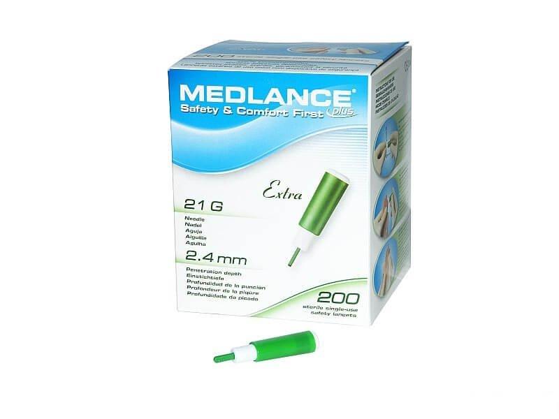 Nakłuwacze do pomiaru cukru (200 szt.) - Medlance