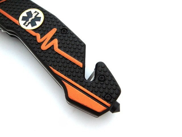 Nóż ratowniczy - czarny 3w1