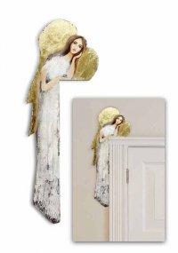 Obraz ręcznie malowany Anioł nad drzwi biały G102111 wysyłka w 24h