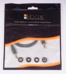 Kabel Jack 3,5-Jack 3,5 1,0m HQ LB0061 LIBOX