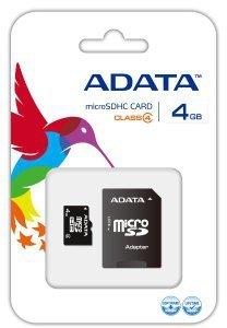 ADATA karta pamięci Micro SDHC 4 GB Class 4 + Adapter