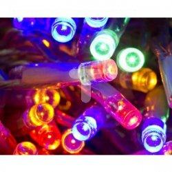 Kurtyna świetlna wnętrzowa sople LED z dod. gniazdem przeźroczysty przewód 100 multikolor 4,8m 37-631