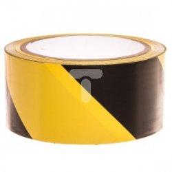 Taśma ostrzegawcza 50mm x 20m żółto-czarna F6033