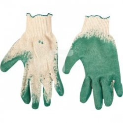 Rękawice robocze, dzianina bawełniana powlekana gumą, zielone rozmar 9 83S206