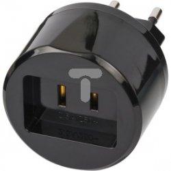 Adapter podróżny USA - Euro /z bezpieczikiem 2,5A/ 1508500010