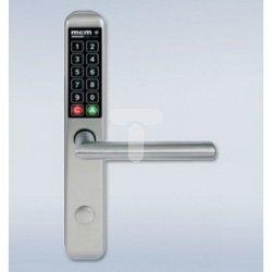 Klamka szyfrowa MCM EASY KEY SLIM INOX, pełny szyld rozstaw 92mm