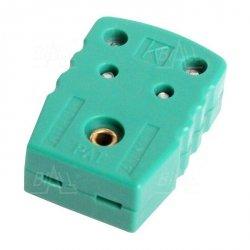Wtyk A5 żeński MINI na kabel do sond K zielony