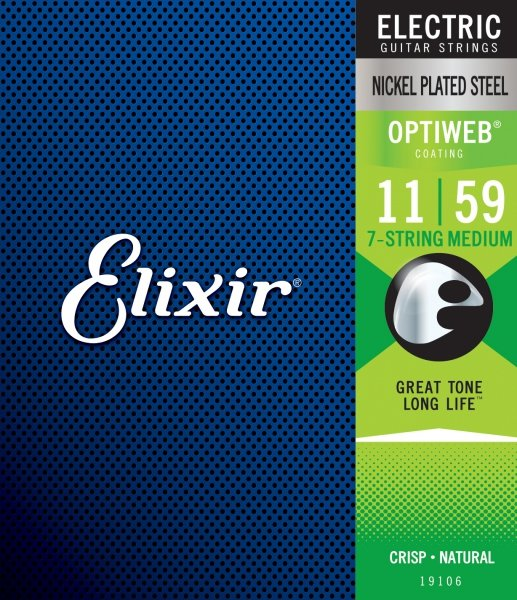 Elixir 19106 7-String Medium 11-59