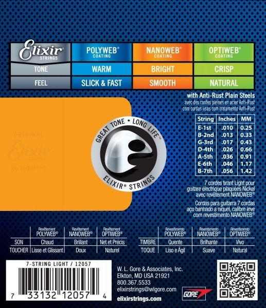 Elixir 12057 NanoWeb 10-56 (7 String)