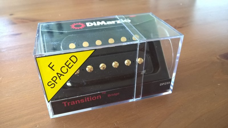 DiMarzio Transition Bridge F Spaced Black Gold