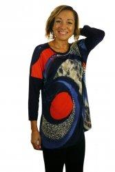 Bluzka, kimono, rękaw 3/4, wzór z przodu, Kreator Studio Mody, rozmiar 44
