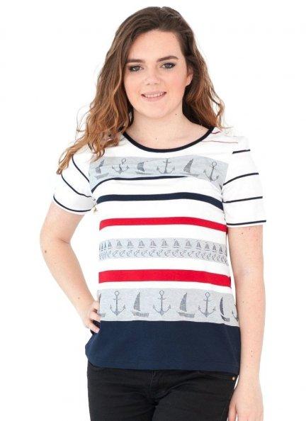 Bluzka w marynarskie paski, t-shirt  rozmiar 44