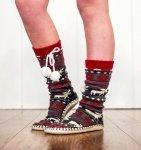 Moose Fair Isle Mukluk - Ponožky do bačkor - LazyOne