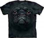 Black Pug Face - T-shirt The Mountain