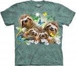 Sloth Family Selfie - The Mountain