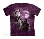Three Wolf Moon in Purple - The Mountain - Junior