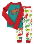 Pattern Moose - Piżama Dziecięca Długi rękaw - LazyOne