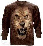 Big Face Roaring Lion - Long Sleeve The Mountain