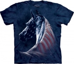 Patriotic Horse Head - The Mountain