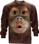 Big Face Baby Orangutan Long Sleeve -The Mountain