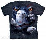 Patriotic Moon Eyes Eagle - The Mountain