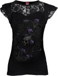 Entwined Skull - Lace Sleeve Top - Spiral - Damska