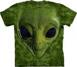 Green Alien Face - The Mountain