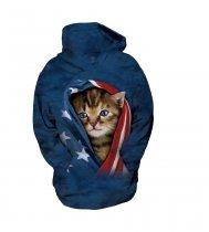 Patriotic Kitten - The Mountain - Mikina Junior