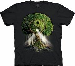 Yin Yang Tree Black  - The Mountain Base
