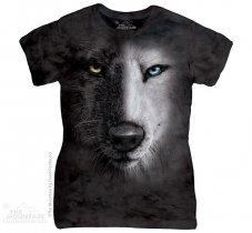 Black and White Wolf Face - The Mountain Damska