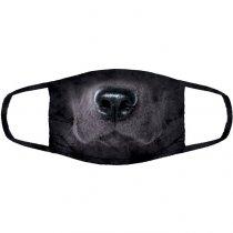 Black Labrador Dog - 3 vrstvé Rouška