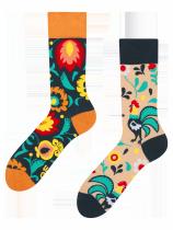 Folkový kohout - Ponožky Good Mood