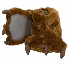 Brown Bear Paw Slippers - Bačkory - LazyOne