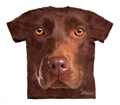 Chocolate Lab Face - The Mountain - Junior