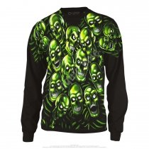 Skull Pile Black Glow Long Sleeve - Świecąca - Liquid Blue