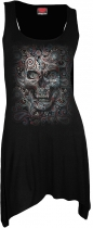 Skull Illusion - Camisole Dress Spiral