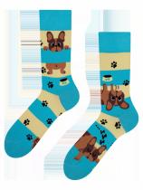 Psi a Pruhy - Ponožky Good Mood